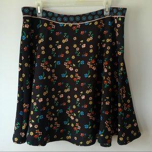 Molly Bracken Floral Print Skirt Women's Size L